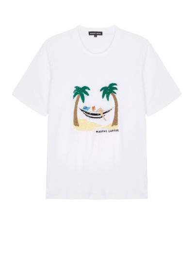 Alex Sequin Beach Hammock Relaxed-Fit Tee