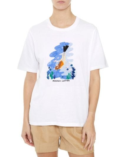 Alex Sequin Sea Driver Relaxed-Fit Tee