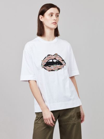 Sequin Painters Lip Karla Tee
