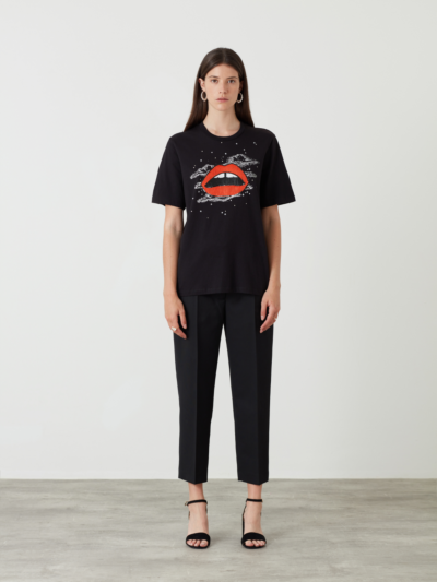 Sequin Starry Night Lip Alex Tee