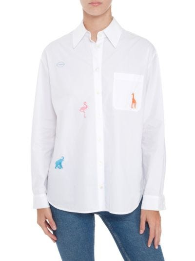 Tyler Embroidered Animals Cotton Shirt