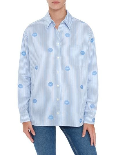Tyler Stripe Lip Cotton Shirt
