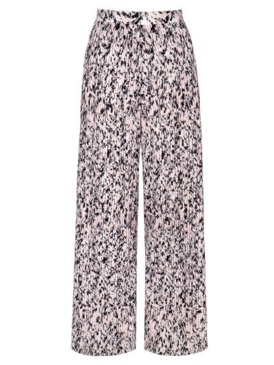 Rae Pleated Abstract Animal Trouser