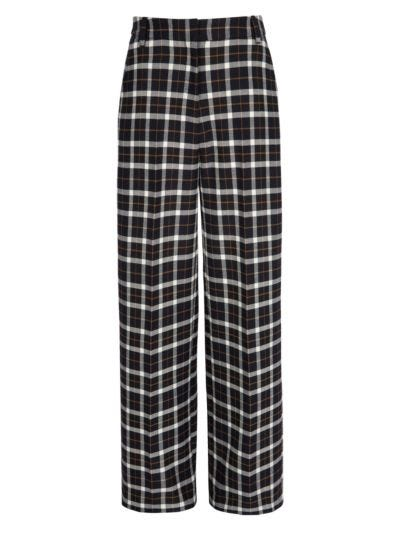 Marley Wool Check Cropped Trouser