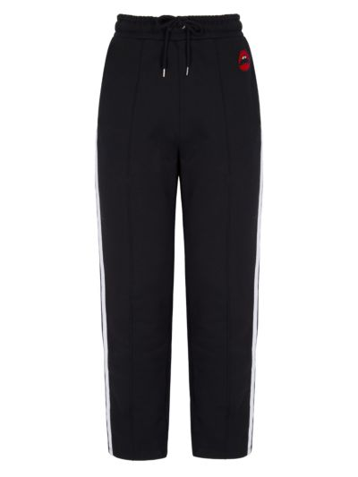 Katrina Relaxed-Fit Velvet Lip Jogger