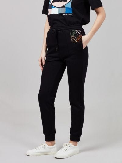 Embroidered Markus Lupfer Lip Aliza Jogger