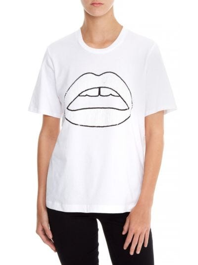 Alex Sequin Tonal Lip Relaxed-Fit Tee