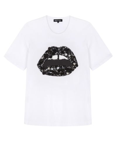 Alex Textured Disc Lip Relaxed-Fit Tee