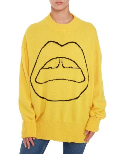 Erin Iconic Lip Crewneck Oversized Jumper