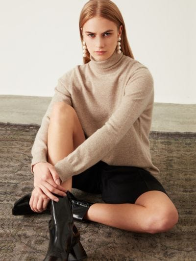 Lilly Cashmere Relaxed-Fit Roll Neck