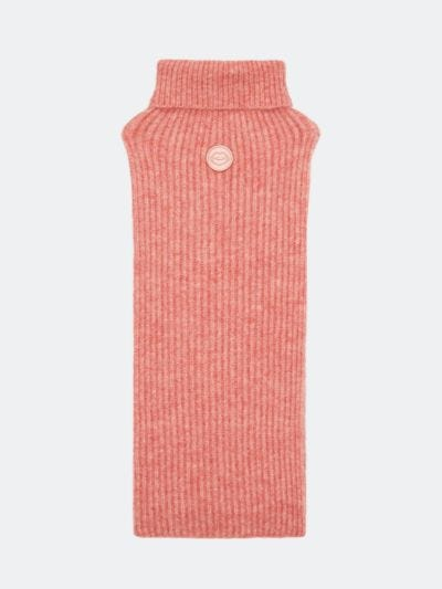 Embroidered Lip Patch Roll Neck Scarf