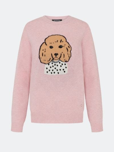 Intarsia and Embroidered Poodle Mia Jumper