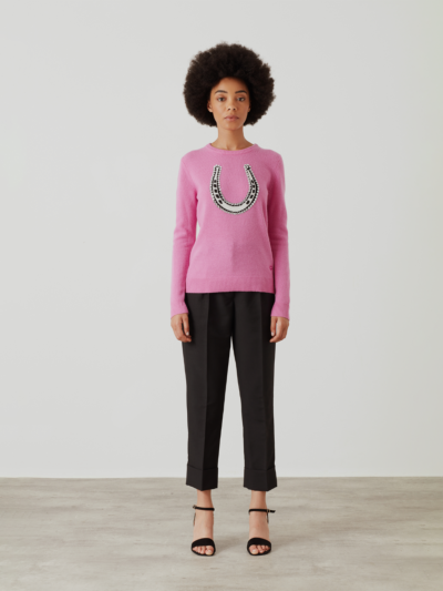 Embellished Intarsia Lucky Horse Shoe Mia Jumper