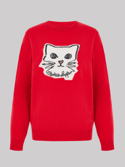 Sequin Kitten Face Mia Jumper