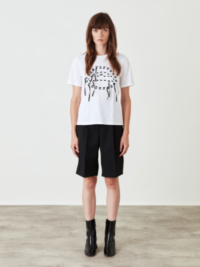 Embroidered Laced Lip Alex Tee
