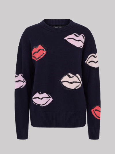 Sequin Sketch Lip Ellie Jumper