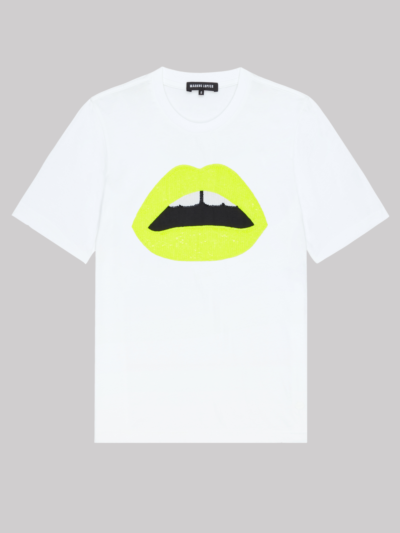 Fluro Sequin Lip Alex Tee