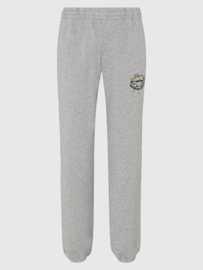 Embroidered Flower Lip Evie Jogger