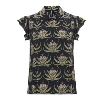 Betty Silk Desert Flower Shirt